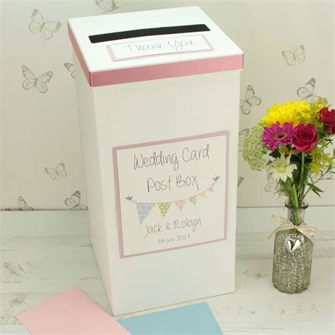 personalised bunting wedding post box by dreams to reality