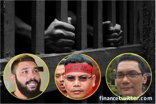 Lock Them Up - UMNO Gangster Jailed - Papagomo, Jamal, Azwanddin