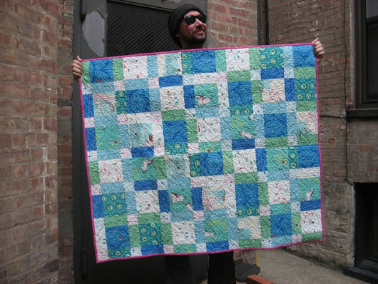 Wee Wander Disappearing Nine Patch - A Baby Quilt