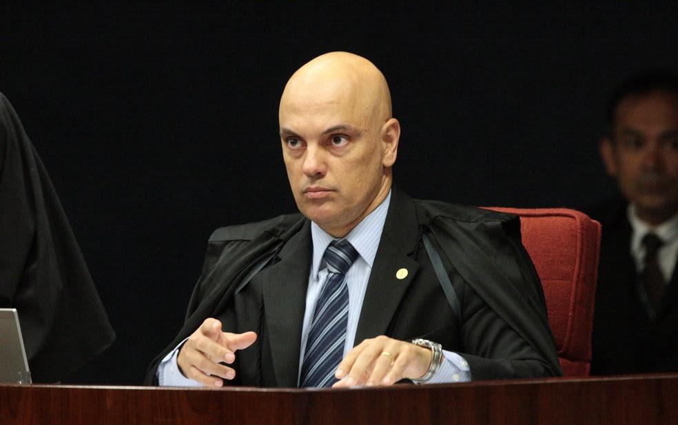 O ministro Alexandre de Moraes abriu a divergência que declarou inconstitucional as paralisações de policiais (Foto: Carlos Moura / STF)