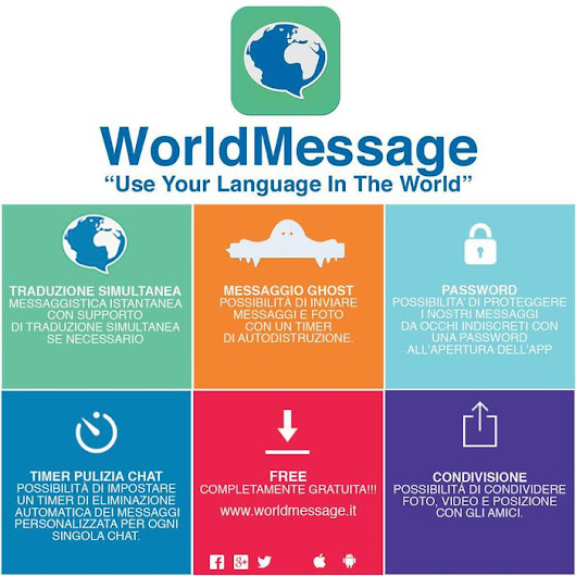WorldMessage, chat con la funzione Ghost - Software e App