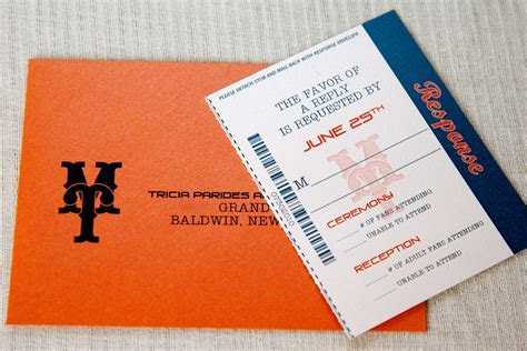 Wedding Invitations   Baseball Ticket Inspired response