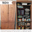 My Homeschool Cabinet Makeover | Far From Normal