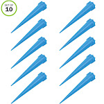 Evelots Plant/Flower Watering Tall Spikes-Plant Food-Bottle Screw-No Tool-Set/10
