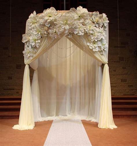 wedding ceremony draped arch decorations ceremony