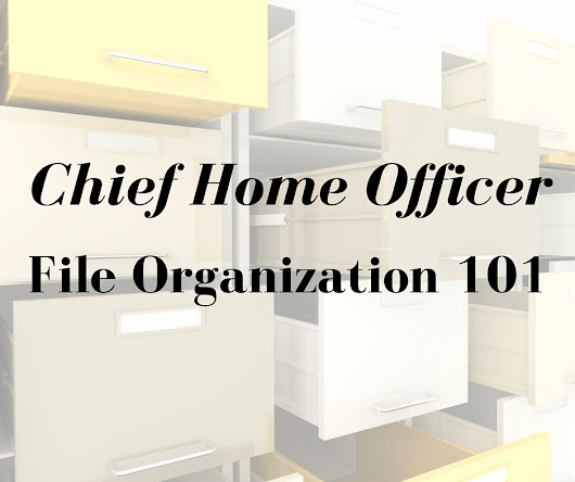 Chief Home Officer Organization 101