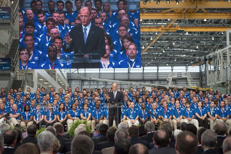 Airbus Group CEO Tom Enders speaks during the inauguration of Airbus' first U.S. manufacturing facility in Mobile, Ala., on Monday.