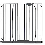 Regalo Easy Step 51 Inch Extra Wide Walk Thru Baby and Pet Safety Gate, Black by VM Express