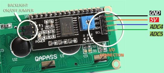 lcd display to arduino wiring