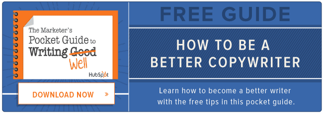 free guide: how to be a better copywriter