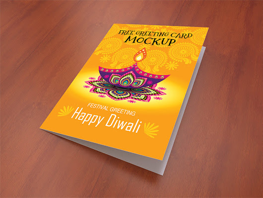 Greeting Card Mockup Free PSD Template Download - Download PSD