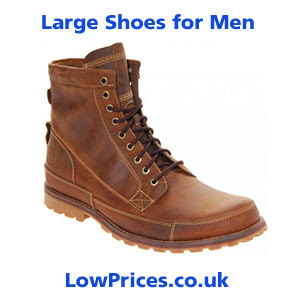 Large size shoes for men
