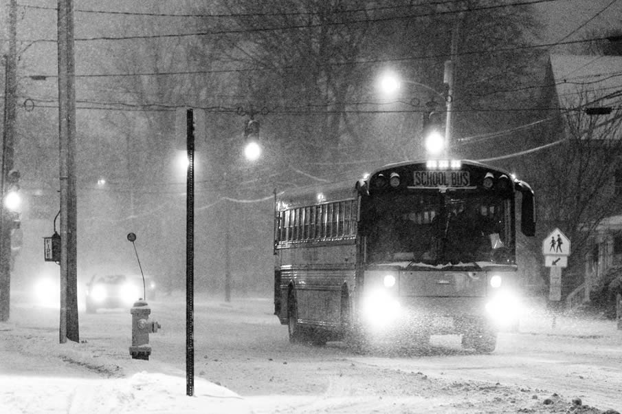 School Bus Approaching