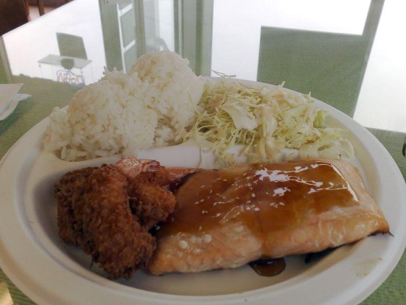 Salmon & Shrimp Plate