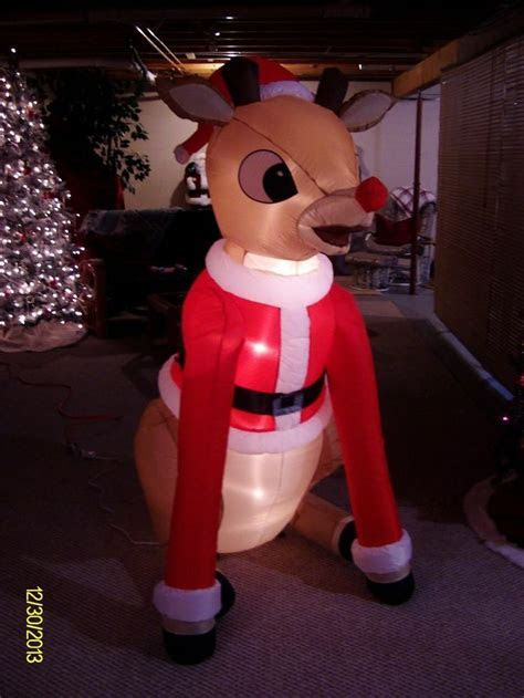 GEMMY CHRISTMAS AIRBLOWN INFLATABLE RUDOLPH THE RED NOSED