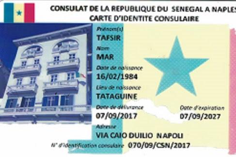 Votre Inscription Au Registre Des Sénégalais établis Hors Du Sénégal