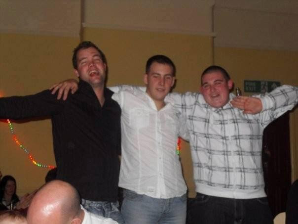 The Argus: Tom Freret and Lee Rigby with a friend on New Year's Eve 2008