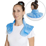 Warm & Cooling Neck Shoulder Wrap Pad - Herbal Aromatherapy For Soothing Muscle Pain and Tension Relief Therapy, 100% Natural Lavender & Herb Spa