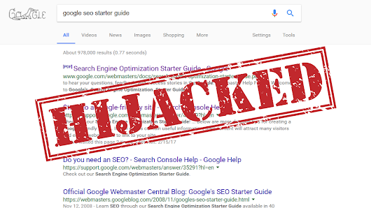 How we hijacked Google's SEO guide search rankings