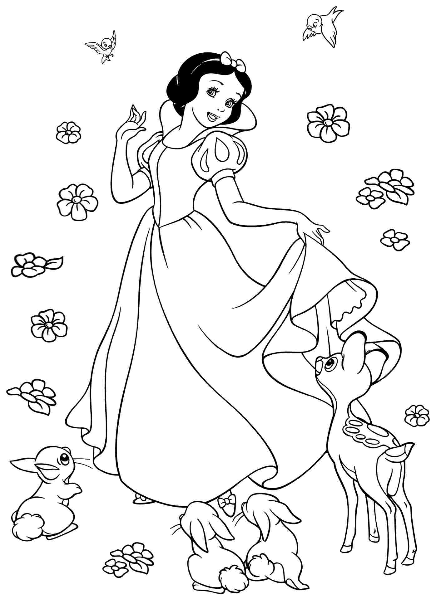 Princess Snow White Coloring Pages At Getdrawingscom Free For