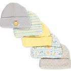 Cribmates Baby Boys' 5-Pack Caps - Gray/Yellow, 0 - 6 Months