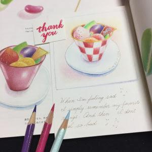 Beltaのcolored Pencil Gallery 色鉛筆ギャラリー 塗り絵スイーツ