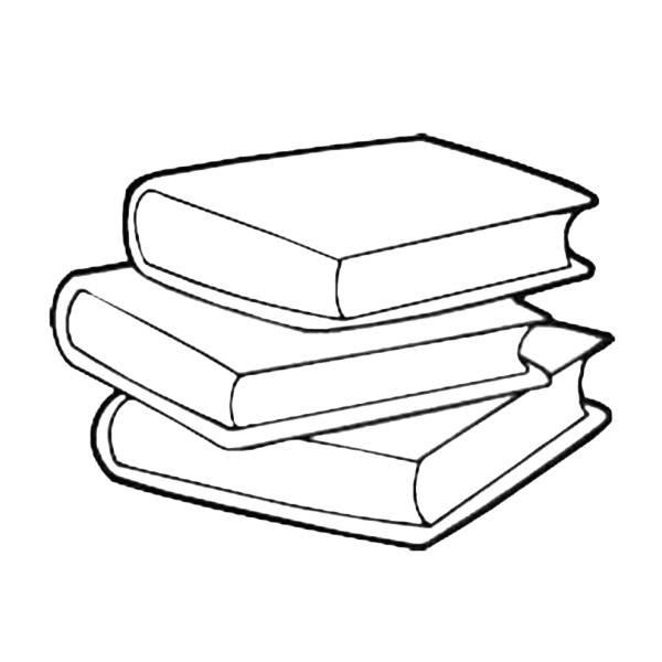 Disegno Di Libri Scolastici Da Colorare Per Bambini
