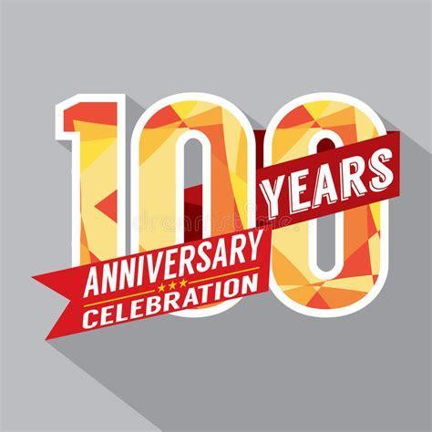 100th Years Anniversary Celebration Design Stock Vector