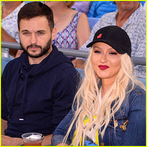 Christina Aguilera Has a Dodgers Date Night with Matt Rutler!