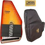 Oscar Schmidt Honey Sunburst 21 Chord Autoharp, Gig Bag, Flame Maple, OS11021FHS, OS11021FHS-AC445