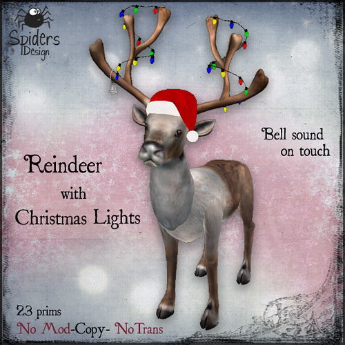 Reindeer with Christmas Lights Copy