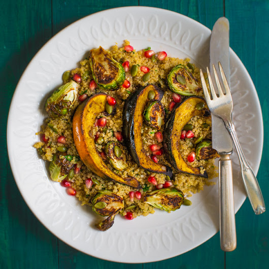 Roasted Acorn Squash and Brussels Sprouts Salad