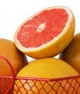 Grapefruit in Wire Basket