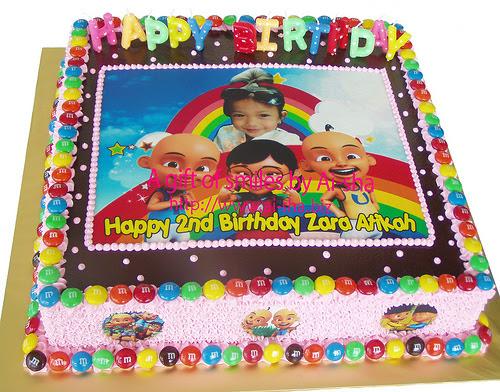 Birthday Cake Edible Image Upin & Ipin Ai-sha Puchong Jaya