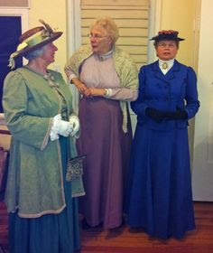 Janet Knowles, Margaret Firth,  and Mamie MacCormack of the Historic Heritage Village of Sister City Hamiton, Ontario at Spanish Point