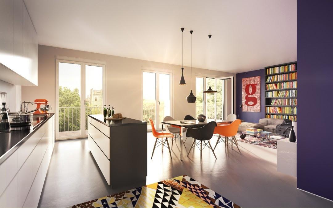 Colorful Kitchen Dinerinterior Design Ideas