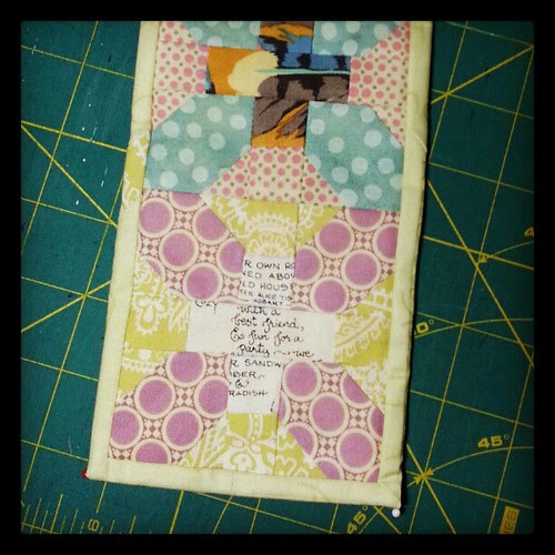 Going to sit and handstitch some binding now.... #xplusalong