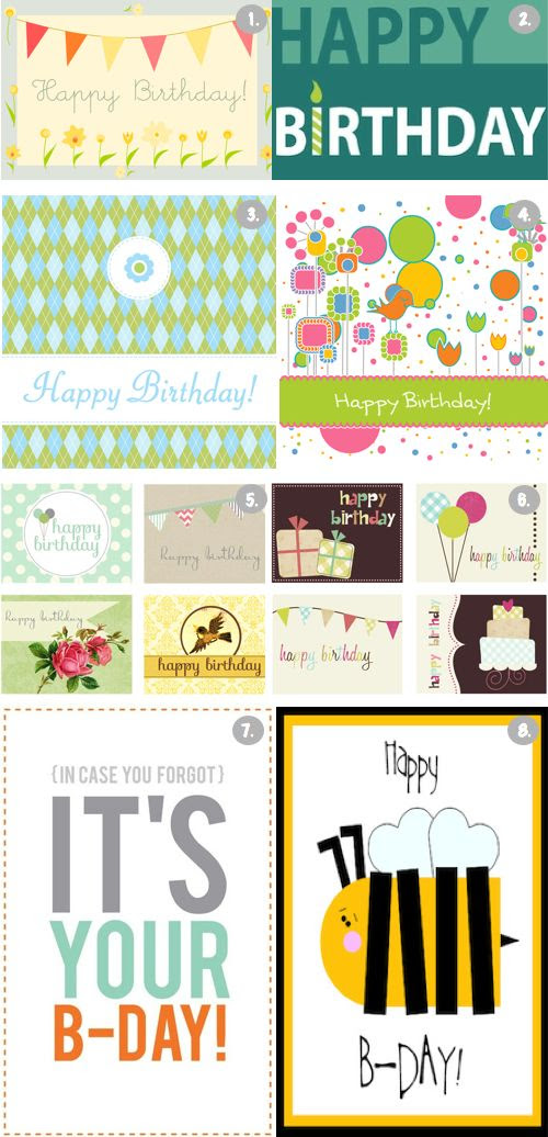 1000+ ideas about Free Printable Birthday Cards on Pinterest ...