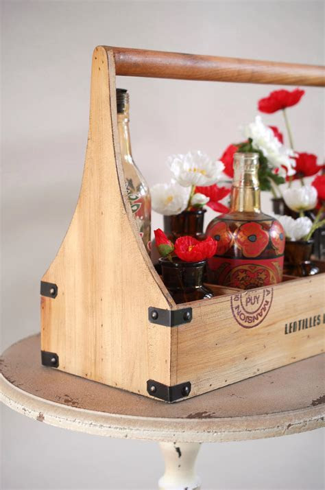 Wood Caddy Wine Bottle Holder (holds 8 bottles)