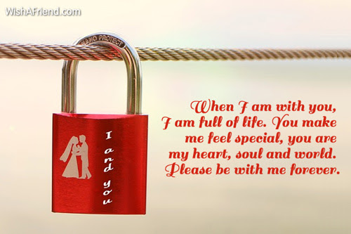 When I Am With You I Love Message