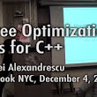 "Facebook NYC Tech Talk - Andrei Alexandrescu ""Three Optimization Tips for C++"""