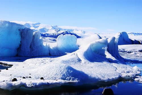 Icebergs galore at Jökulsárlón, Iceland