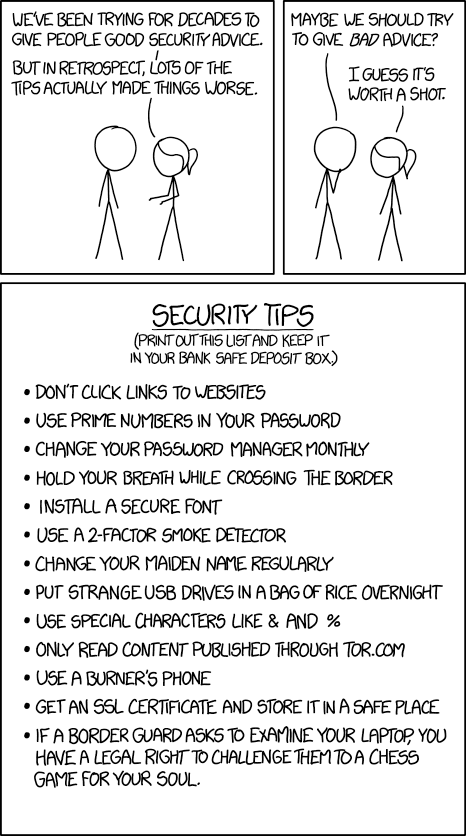xkcd: Security Advice