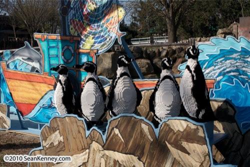 LEGO sculpture Sean Kenney humboldt humobolt penguins philadephila philly zoo creatures of habitat