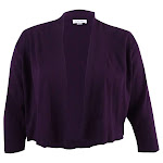 Calvin Klein Women's Plus Size Solid Shrug Cardigan (3X, Aubergine)