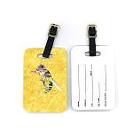 Caroline's Treasures Pair of Bee on Yellow Luggage Tags 8851BT