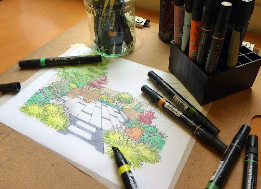 Tips From a Landscape Designer: Garden Perspective Drawing for the Home Gardener - Garden Therapy