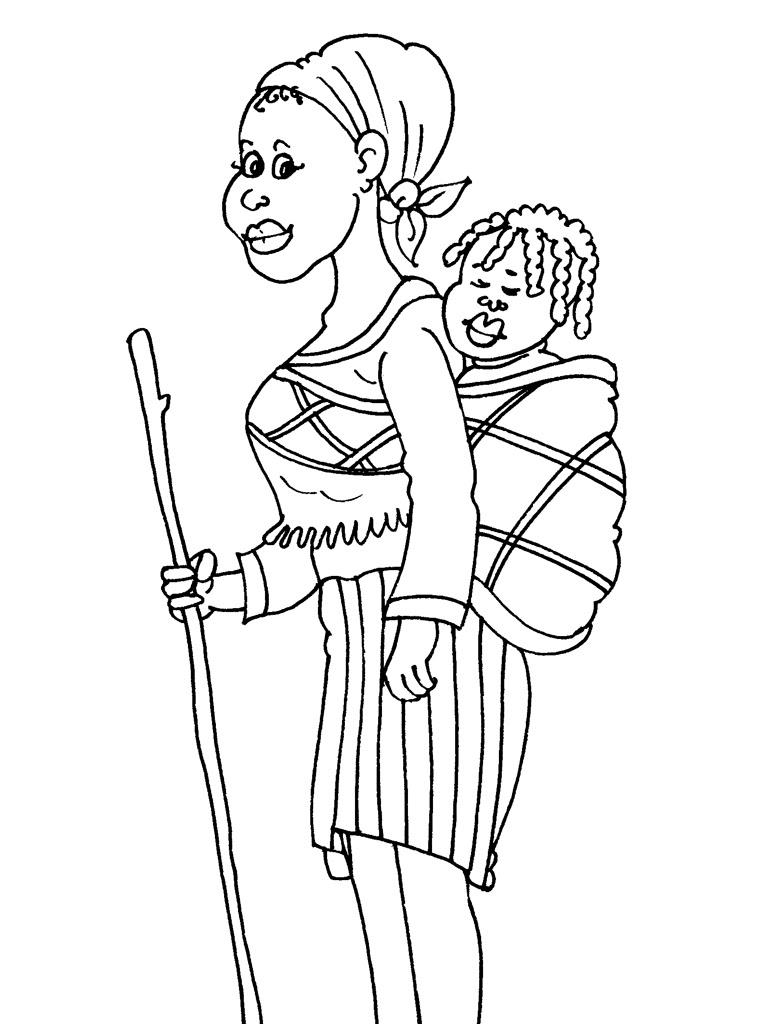 Dessin femme africaine coloriage haut coloriage hd images et imprimable gratuit - Dessin africaine ...