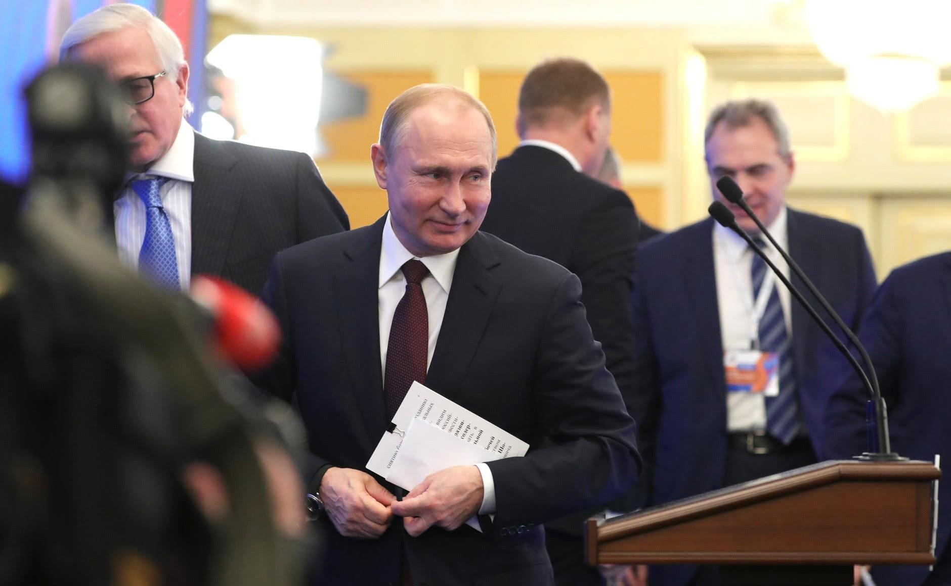Напленарном заседании съезда Российского союза промышленников ипредпринимателей.