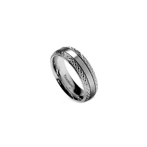 7mm Mens Titanium Classic Wedding Engagement Band Ring